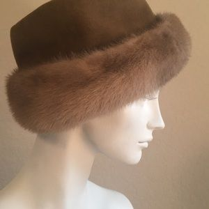Velour & Fur Hat
